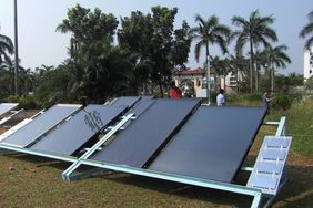 Solarthermie-Test in Kochi