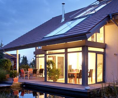 Passivhausfenster im Einfamilienhaus