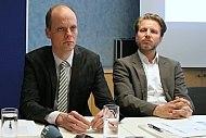 Diskussion auf den Berliner Energietagen, Markus Kachel (BBH, links) und Simon Schäfer-Stradowsky (IKEM)