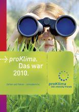 Cover des Jahresberichtes 2010 von proKlima