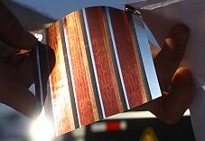 Solarmodul auf Papier