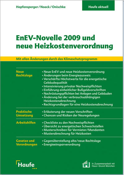 buch enev novelle 2009 und neue heizkostenverordnung. Black Bedroom Furniture Sets. Home Design Ideas